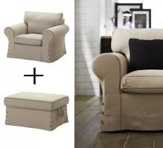 Slipcover Armchair Ikea Ektorp Armchair And Footstool Ottoman Covers Chair Slipcovers