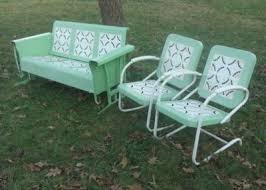 Vintage Patio Furniture Metal by 104 Best My Metal Porch Gliders Images On Pinterest Gliders