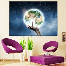 Gifts For Home Decoration Aliexpress Com Buy Led Canvas Painting Landscape The Earth In My
