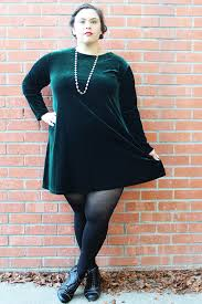 plus size vintage dark green stretch velvet mini by thecurvyelle