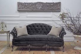 Grey Tufted Sofa by Gray Velvet Tufted Sofa 96 With Gray Velvet Tufted Sofa Dadoodle Net
