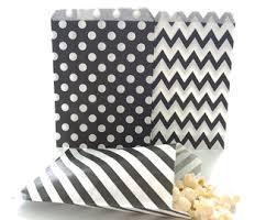 black and white striped gift bags black bag etsy