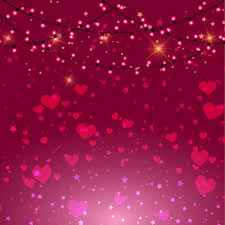 valentines day lights valentines day background with pink hearts and lights free