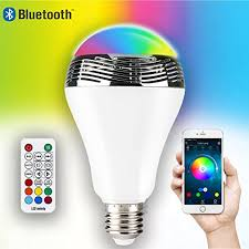 10w speaker light bulb led color changing with bluetooth audio by