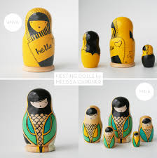 Modern Accessories For Home Decor Modern Nesting Dolls By Nushka Melissa Gardner Accessories For