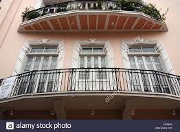art deco balcony panama city s casco antiguo area art deco balcony stock photo