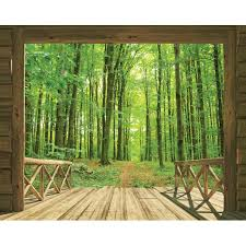 wall murals next day delivery wall murals from worldstores walltastic woodland forest wallpaper mural