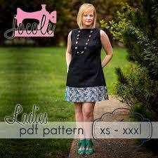 pattern a line shift dress ladies a line shift dress top xs xxxl sewing pattern 14004