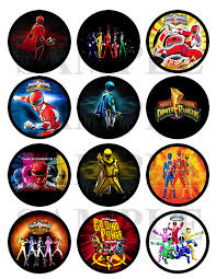 power rangers printable cupcake toppers stickers 4 00