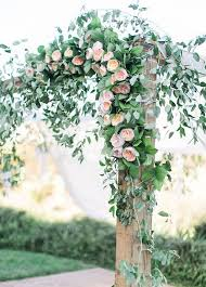 Trellis Rental Wedding The Ceremony Arch Is Dripping In Greenery And Lush Peach Garden