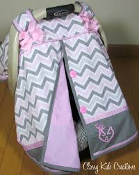 Carseat Canopy For Boy by Pink And Gray Chevron Car Seat Canopy With Or Without Deer