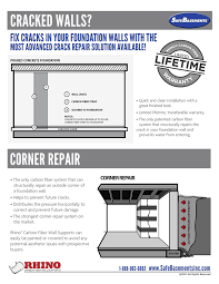 rhino carbon fiber fix bowed foundation walls