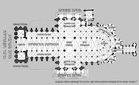 Cathedral Floor Plan Top Chartres Cathedral Floor Plan With Ground Plan Of Notre Dame
