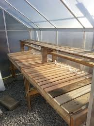 Building Wood Shelves In Shed by Best 25 Greenhouse Shelves Ideas On Pinterest Greenhouse