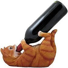 amazon com decorative tabby kitty cat wine bottle holder