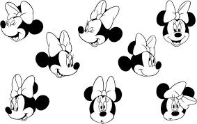 printable 6 minnie mouse face coloring pages 5824 minnie mouse