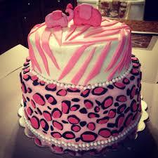 pink zebra u0026 leopard baby shower cake my cakes pinterest