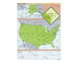 Virginia Political Map by Maps Of Usa Detailed Map Of United States Of America In English