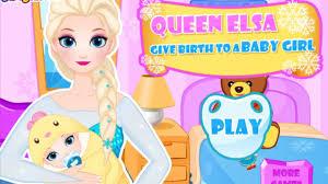 queen elsa give birth baby frozen elsa game movie