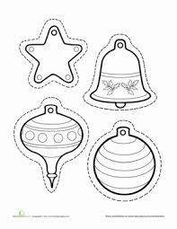 paper christmas ornaments worksheet education com