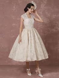 milanoo robe de mari e robe de mariée courte en dentelle chagne vintage gown
