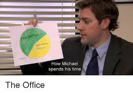 The Office Meme - procrst distractins others how michael spends his time the office