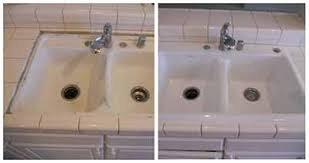 NJ Bathroom  Shower Tile Reglazing Refinishing Resurfacing - Reglazing kitchen sink