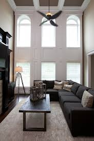 two story living room remote control ceiling fans deck contemporary with aluminum aluminum