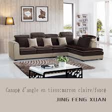 canapé marron clair canapé d angle en tissu marron foncé et beige clair bonmarche mg