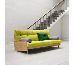 canape convertible futon canapé lit loora bois massif
