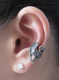 ear cuffs for pierced ears pewter ear cuff jewelry