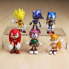 sonic cake topper 6pcs sonic the hedgehog tails mephiles knuckles figure doll