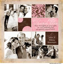 bridal thank you card photos vintage style collage