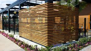 restaurant patio fencing planters patio fences and more