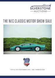 silverstone auctions the nec classic motor show sale 2015 by