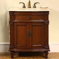 Cherry Bathroom Vanity by Shop Silkroad Exclusive Esther Cherry Undermount Single Sink