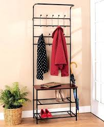 Coat Rack With Bench Seat Entryway Bench Seat With Hat Coat Rack Storage Shoe Shelf