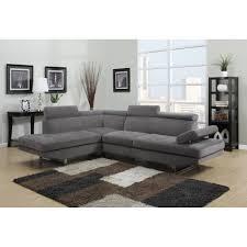 promo canapé d angle canapé d angle design gris tissu avec repose têtes achat vente