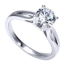 engagement ring solitaire solitaire engagement ring with rounded split shank