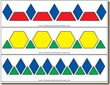 pattern blocks math activities nice series of pattern block pattern strips fun to recreate and