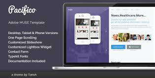 adobe muse mobile templates pacifico one page muse template by tansh themeforest