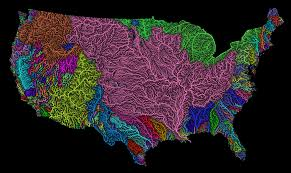 Rivers Of The United States Map by Rivers Basins Of The Us In Rainbow Colours Album On Imgur