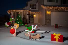 grinch stealing christmas lights yard art decoration grinch yard art