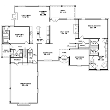 1 story home floor plans 4 bedroom homes zone