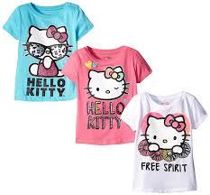 amazon kitty girls u0027 3 pack shirt clothing