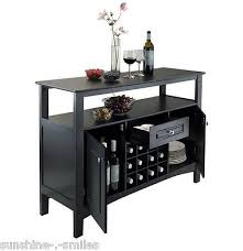 black buffet sideboard drinks cabinet wine storage cupboard