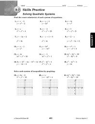 quadratic graphs worksheet worksheets