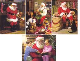 tom browning cards santa figurines traditional