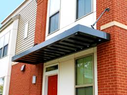 Glass Awnings For Doors Front Porch Splendid Design Ideas Using Brown Bricks And