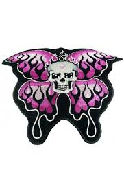 skull with butterfly wings patch of darkness